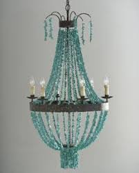 turquoise beaded chandelier reginia andrew deisign turquoise beaded chandelier horchow
