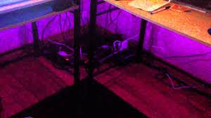 Purple Computer Desk by Computer Desk Under Glow Youtube