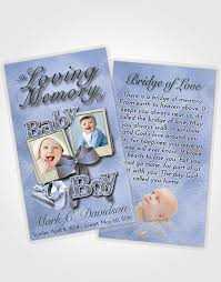 prayer cards for funeral prayer card template coral reef baby boy
