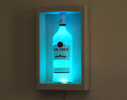 Led Light Bar Color Changing by Bacardi Rum Shadow Box Wall Mount Or Tabletop Color Changing