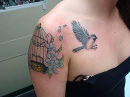 bird cage tattoo on shoulder creativefan