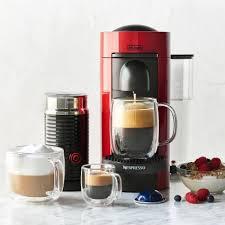 Sur La Table Coffee Maker Nespresso Vertuoplus By De U0027longhi With Aeroccino3 Frother Red
