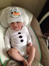 olaf onesie for a baby so simple i used a plain white onesie a