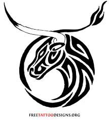 bull circle in tribal style taurus