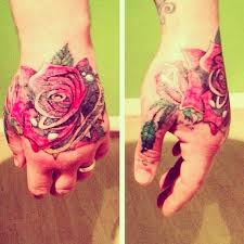 hand color rose flower tattoo uncategorized tattoos best tats