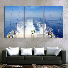 3 piece deep sea fishing canvas it make your day 3 piece deep sea fishing canvas