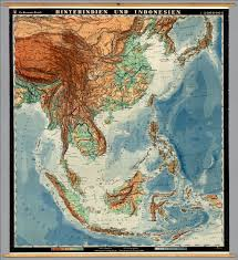 Asia Physical Map East U0026 Southeast Asia Physical David Rumsey Historical Map
