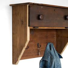 Shelf Hooks Entryway Wood Mail Organizer Entryway Coat Hooks From Bydadanddaughter