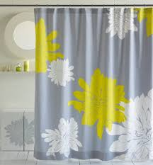 Grey And Yellow Bathroom by Bathroom Dark Grey Chevron Shower Curtain