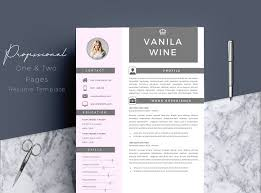 Resume Templates For Pages 4 Pages Professional Resume Template Resume Templates Creative