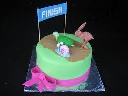 tortoise hare u0026 gary racing birthday cake cakecentral com