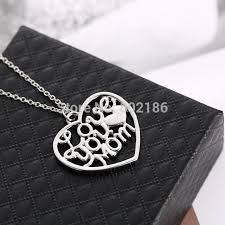 s day jewelry for s day gift you letter heart pendent necklace