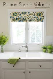 Mock Roman Shade Valance - enchanting roman shade kitchen and farmhouse kitchen touches and a
