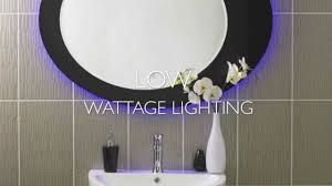 nimbus designer touchscreen large backlit bathroom mirror