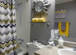 grey bathroom decorating ideas grey and yellow bathroom 369