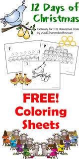 free coloring sheets 12 christmas instant download