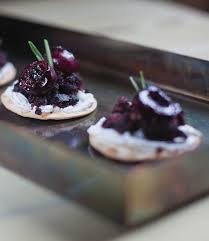 berry canapes cherry black pudding canapes independent ie