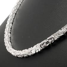 byzantine necklace images Square byzantine solid sterling silver hallmarked chain 4mm jpg