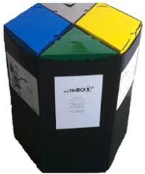 poubelle de bureau tri selectif ecotribox poubelles de tri sélectif en entreprise