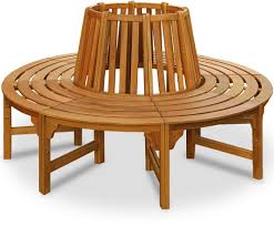 Circular Bench Around Tree Round Wooden Tree Bench Large Garden Circular Patio Outdoor Seat