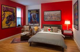 Batman Boys Bedroom Bold Red Bedroom Color Schemes For Kids Boys And Batman Cartoon