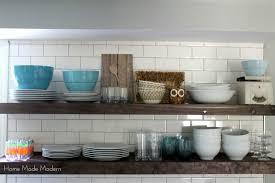 modern kitchen open shelves open shelving in our kitchen home made modern norma budden