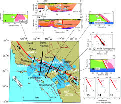 United States Fault Lines Map by A New Perspective On The Geometry Of The San Andreas Fault In