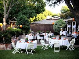 wedding decorating ideas backyard cheap wedding reception ideas casual backyard wedding