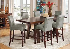 High Dining Room Sets by Mango Burnished Walnut 5 Pc Counter Height Dining Room Dining