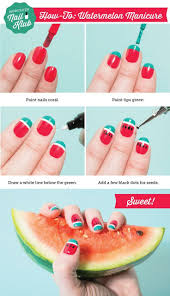 23 best watermelon nails images on pinterest watermelon nail art