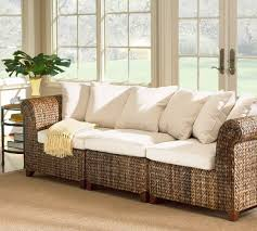 Seagrass Sectional Sofa Seagrass Roll Arm Sofa Pottery Barn