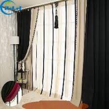 Single Blackout Curtain Pure Color Chenille Blue Thick Blackout Curtains For Living Room