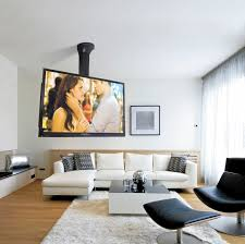 contemporary tv ceiling mount remote controlled motorized