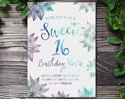 sweet 16 invitations etsy