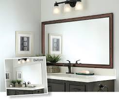 bathroom mirror edging mirror moldingin 45 minutes framing a