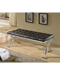 amazing deal on 1perfectchoice royce modern hallway bench stool