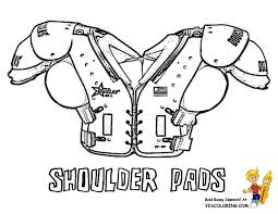 coloring page cool football shoulder pads at yescoloring com
