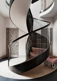 Glass Staircase Design Stunning Transparent Glass For Contemporary Spiral Staircases