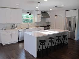 Creamy White Kitchen Cabinets Amber Interiors Kitchens Industrial Stools Modern White
