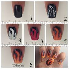 no water marble flame nail art tutorial youtube purple flames
