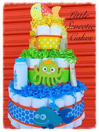 3 tier under the sea diaper cake gender neutral baby shower