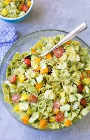 eat the rainbow pesto pasta salad recipe video kristine u0027s kitchen