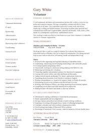 Volunteer Resume Samples by Cv Volunteer U2013 Teox