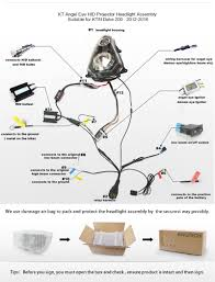 ktm duke 200 angel eye hid projector headlight 2012 2013 2014 2015