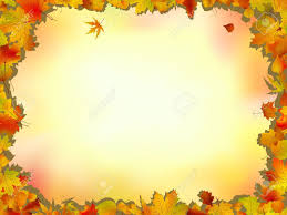 maple and oak leaves frame on soft background for thanksgiving