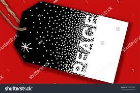 christmas card gift tags holiday message stock illustration