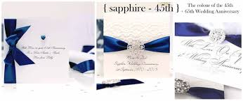 45th wedding anniversary handmade sapphire wedding anniversary cards with the luxury touch