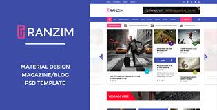 templates blogger material design ranzim material design blog psd template by wpmines themeforest