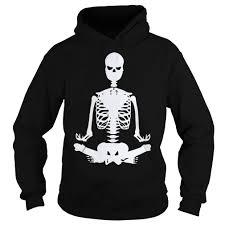 yoga skeleton halloween hoodie sweater and long sleeve