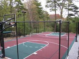 Build A Basketball Court In Backyard Build A Backyard Game Court Sport Court Of Massachusetts